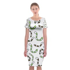 Green Worms Classic Short Sleeve Midi Dress