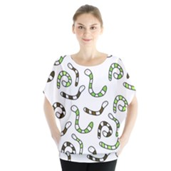 Green worms Blouse