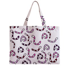Purple worms Zipper Mini Tote Bag