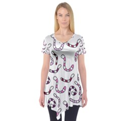 Purple Worms Short Sleeve Tunic