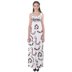 Purple worms Empire Waist Maxi Dress