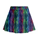 Colorful Lines Mini Flare Skirt View1