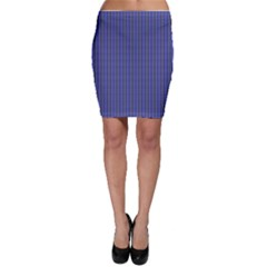 Blue & Black Chain Link Bodycon Skirt