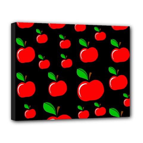 Red apples  Canvas 14  x 11