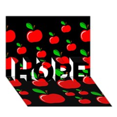 Red apples  HOPE 3D Greeting Card (7x5)