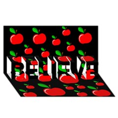 Red apples  BELIEVE 3D Greeting Card (8x4)