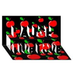 Red apples  Laugh Live Love 3D Greeting Card (8x4)