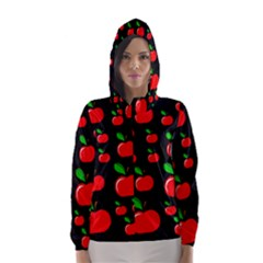 Red apples  Hooded Wind Breaker (Women)