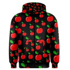 Red apples  Men s Zipper Hoodie