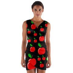 Red apples  Wrap Front Bodycon Dress