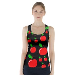 Red apples  Racer Back Sports Top