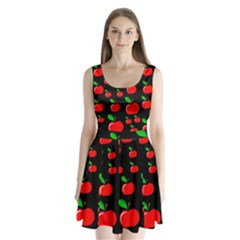 Red Apples  Split Back Mini Dress