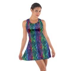 Colorful Lines Cotton Racerback Dress