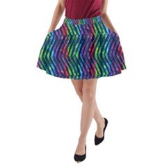 Colorful Lines A-Line Pocket Skirt
