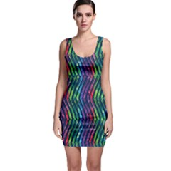 Colorful Lines Bodycon Dress