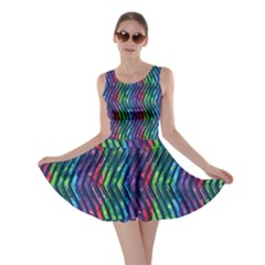 Colorful Lines Skater Dress