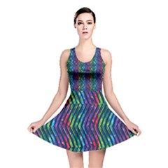 Colorful Lines Reversible Skater Dress
