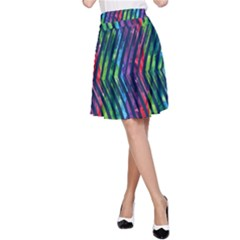 Colorful Lines A-Line Skirt