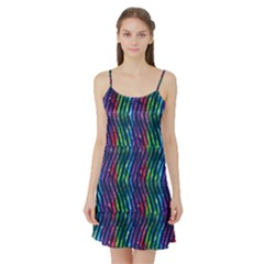 Colorful Lines Satin Night Slip