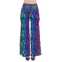 Colorful Lines Women s Chic Palazzo Pants