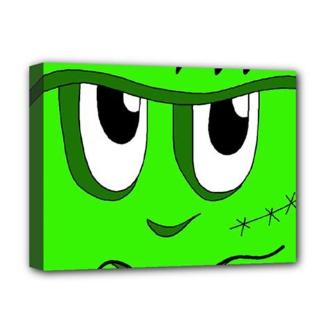 Halloween Frankenstein - Green Deluxe Canvas 16  x 12