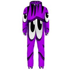 Halloween - purple Frankenstein Hooded Jumpsuit (Men)