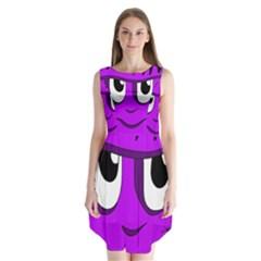 Halloween - purple Frankenstein Sleeveless Chiffon Dress