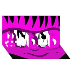 Halloween - pink Frankenstein #1 DAD 3D Greeting Card (8x4)