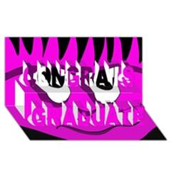 Halloween - pink Frankenstein Congrats Graduate 3D Greeting Card (8x4)