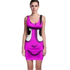 Halloween - pink Frankenstein Sleeveless Bodycon Dress