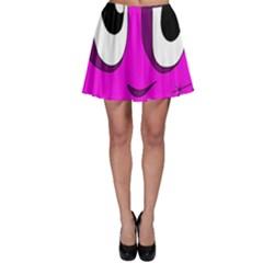 Halloween - pink Frankenstein Skater Skirt
