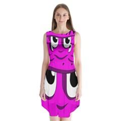 Halloween - pink Frankenstein Sleeveless Chiffon Dress