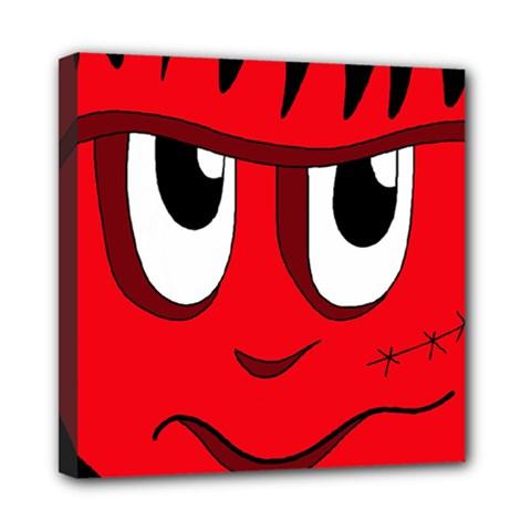 Halloween Frankenstein - red Mini Canvas 8  x 8