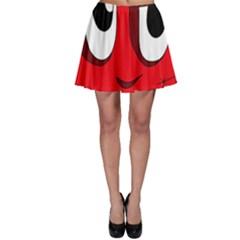 Halloween Frankenstein - red Skater Skirt