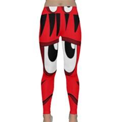 Halloween Frankenstein - red Yoga Leggings