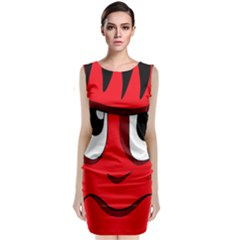Halloween Frankenstein - red Classic Sleeveless Midi Dress