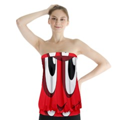 Halloween Frankenstein - red Strapless Top