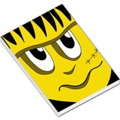 Halloween Frankenstein - yellow Large Memo Pads