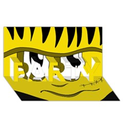 Halloween Frankenstein - yellow PARTY 3D Greeting Card (8x4)