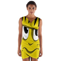 Halloween Frankenstein   Yellow Wrap Front Bodycon Dress