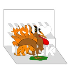 Thanksgiving turkey - transparent You Rock 3D Greeting Card (7x5)