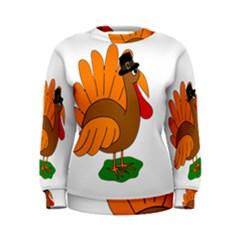 Thanksgiving turkey - transparent Women s Sweatshirt