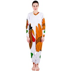 Thanksgiving turkey - transparent OnePiece Jumpsuit (Ladies)