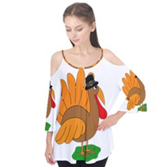 Thanksgiving turkey - transparent Flutter Tees