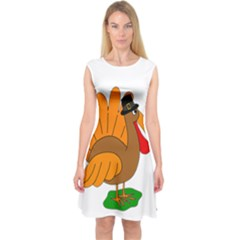 Thanksgiving Turkey   Transparent Capsleeve Midi Dress