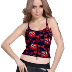Owl You Need In Love Owls Spaghetti Strap Bra Top
