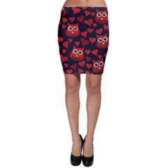 Owl You Need In Love Owls Bodycon Skirt