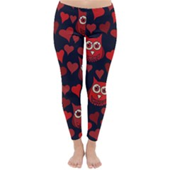 Owl You Need In Love Owls Winter Leggings