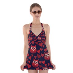 Owl You Need In Love Owls Halter Swimsuit Dress