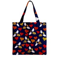 Honey Bees In Love Grocery Tote Bag